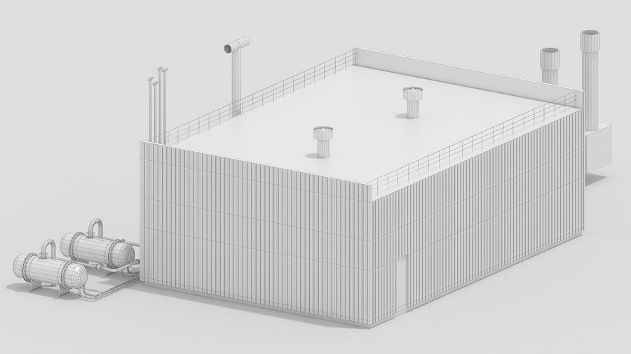Factory Kitbash royalty-free 3d model - Preview no. 28