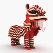 Leão chinês 3d model
