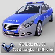 "Generisk polisbil ""Majestät"" EU 3d model"
