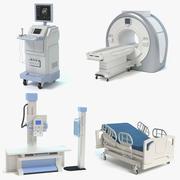 Zestaw sprzętu medycznego 3d model