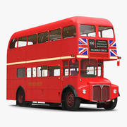 London Bus Routemaster Intérieur simple 3d model