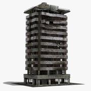 Ruined Damaged Building 5 3d model