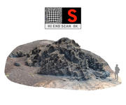 Plaża wulkaniczna EL GOLFO 3d model