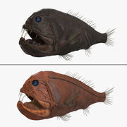 송곳니 물고기 컬렉션 3d model