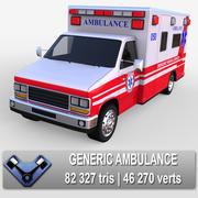 Ambulância genérica 3d model