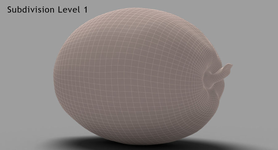 Fruits Collection 01 royalty-free 3d model - Preview no. 71