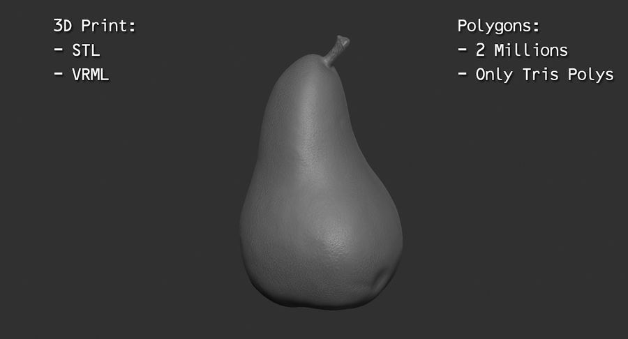 Fruits Collection 01 royalty-free 3d model - Preview no. 117