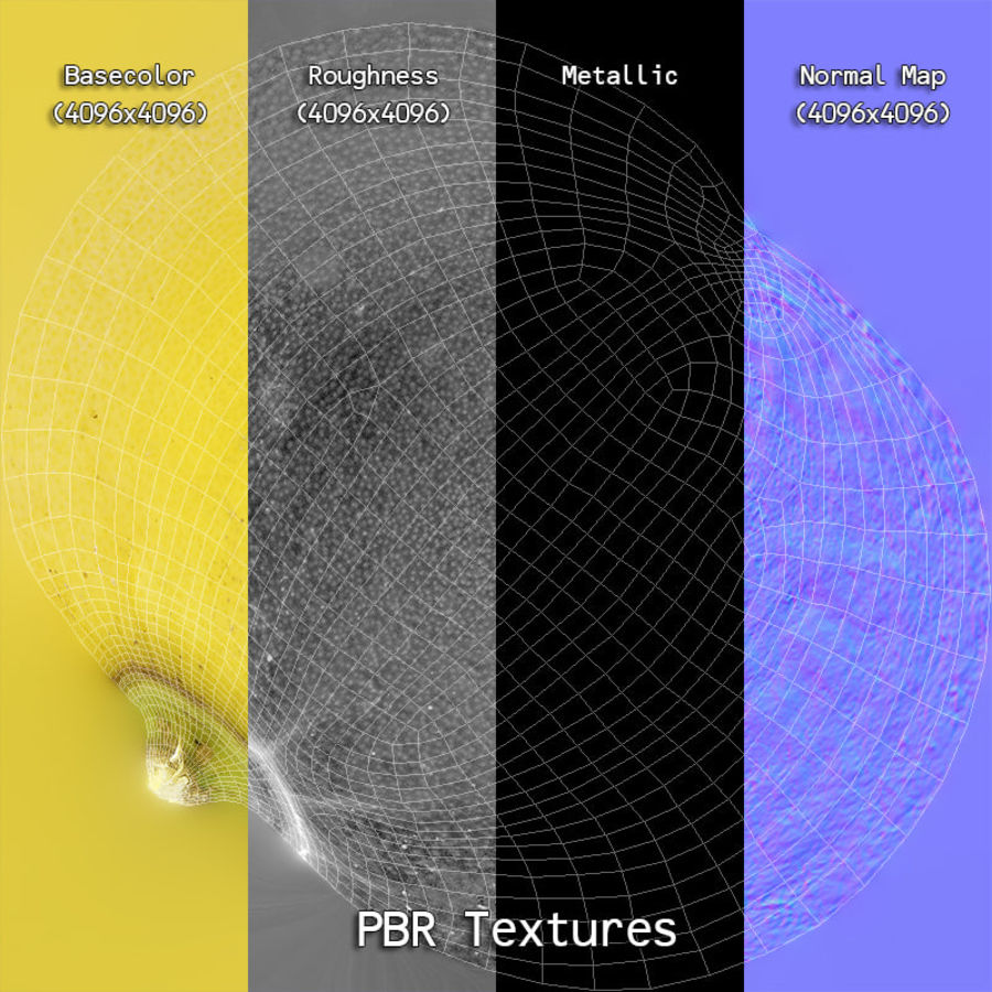 Fruits Collection 01 royalty-free 3d model - Preview no. 77