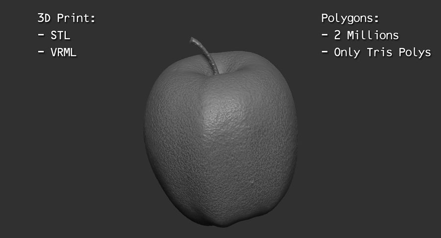 Fruits Collection 01 royalty-free 3d model - Preview no. 34