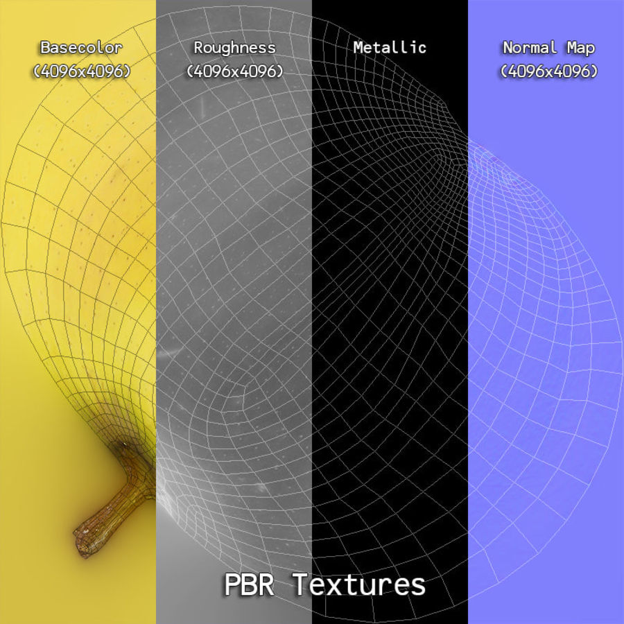 Fruits Collection 01 royalty-free 3d model - Preview no. 36