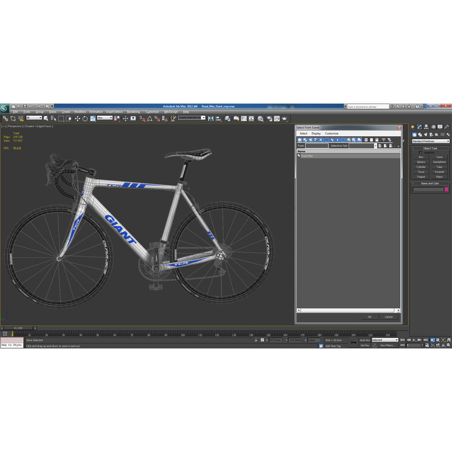 Road Bike Giant royalty-free 3d model - Preview no. 39