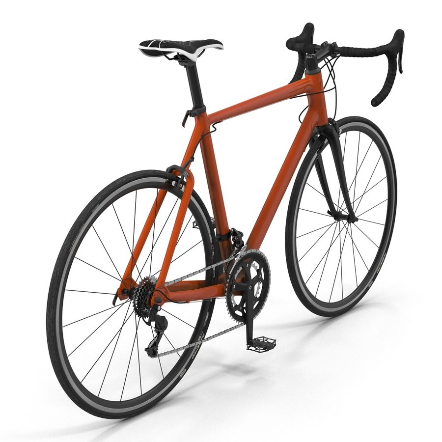 Road Bike Generic royalty-free 3d model - Preview no. 9