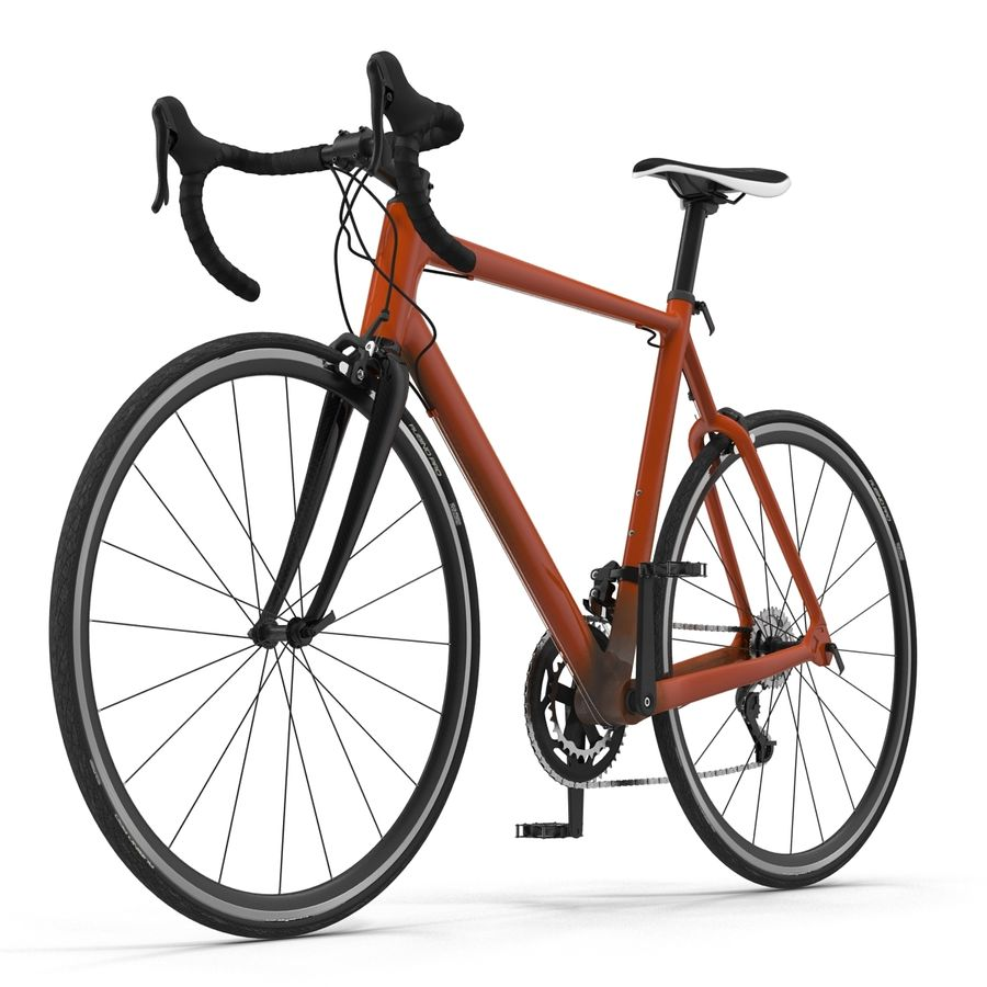 Road Bike Generic royalty-free 3d model - Preview no. 4