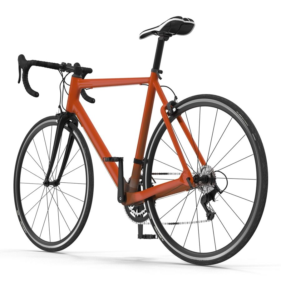 Road Bike Generic royalty-free 3d model - Preview no. 5