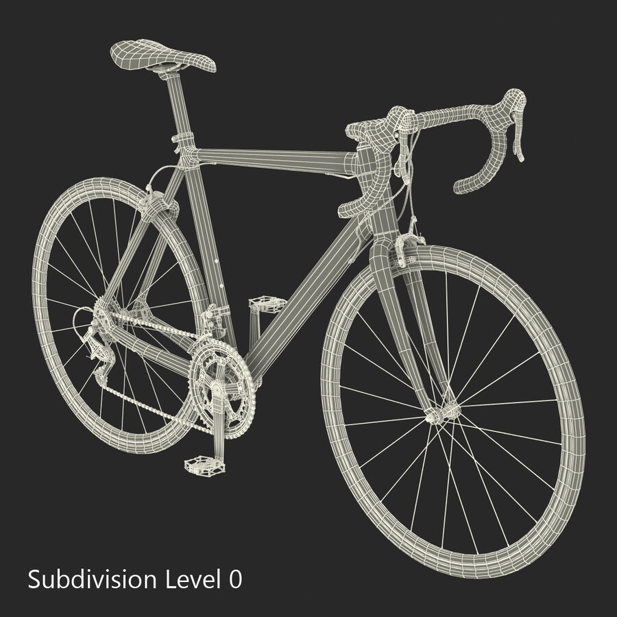 Road Bike Cube royalty-free 3d model - Preview no. 31