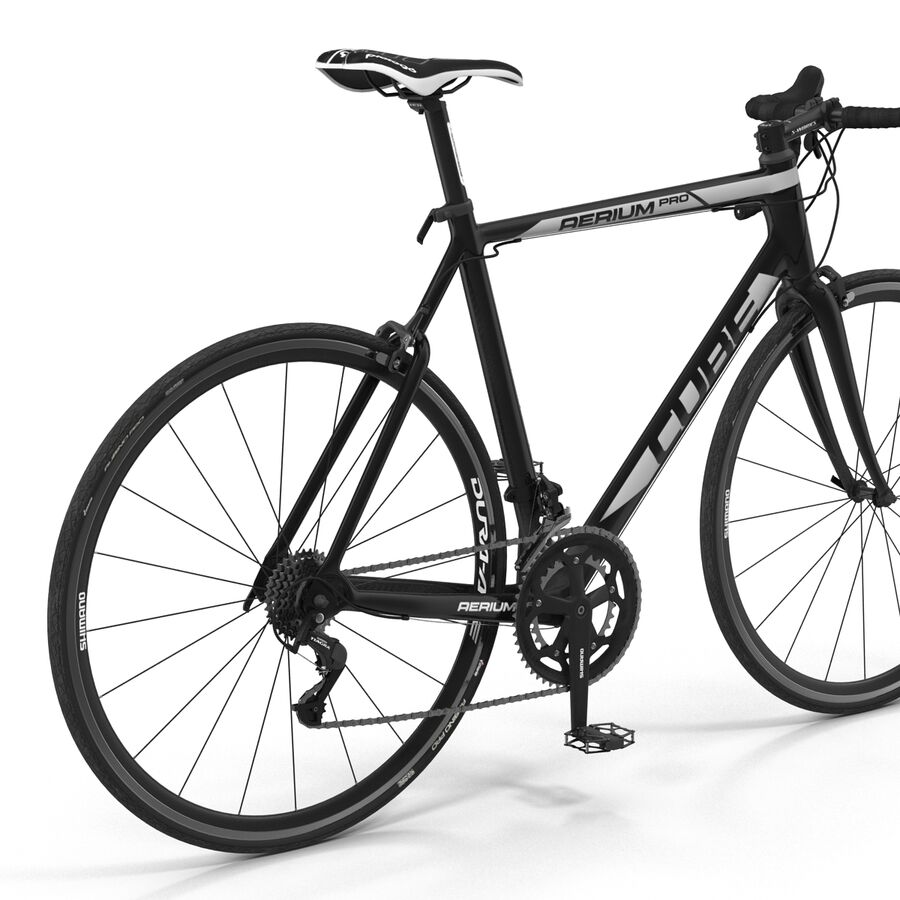 Road Bike Cube royalty-free 3d model - Preview no. 19