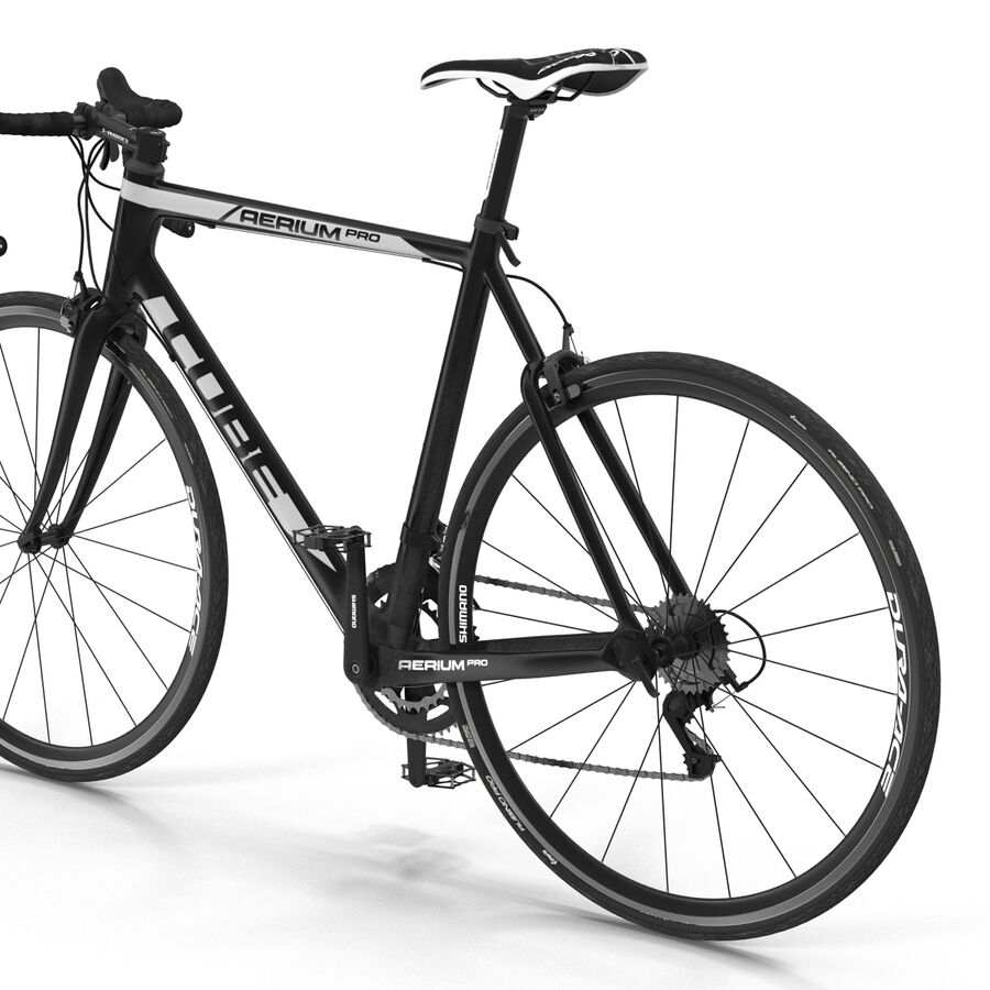 Road Bike Cube royalty-free 3d model - Preview no. 20