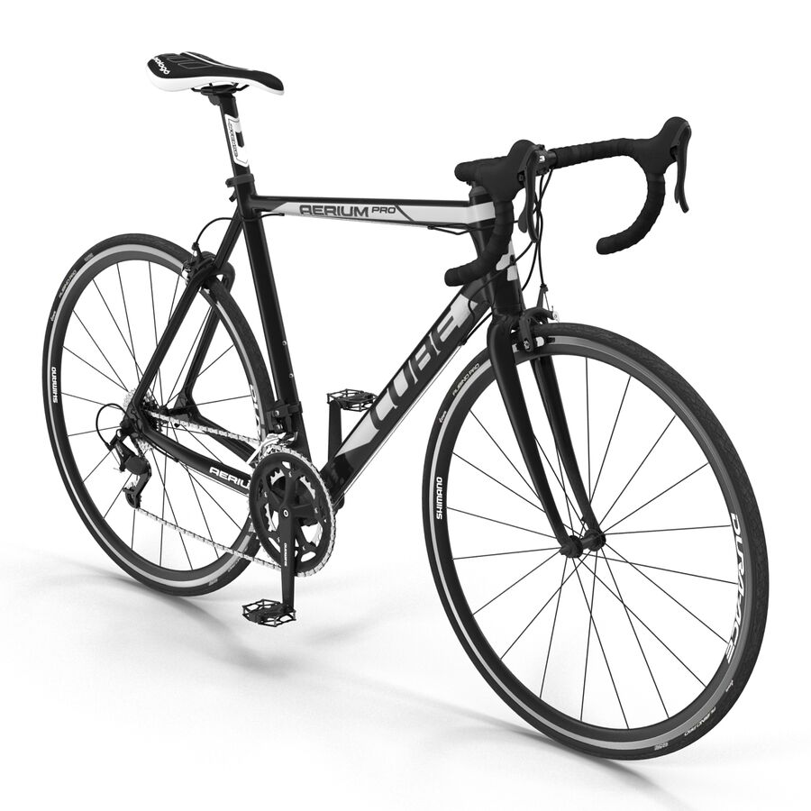 Road Bike Cube royalty-free 3d model - Preview no. 6