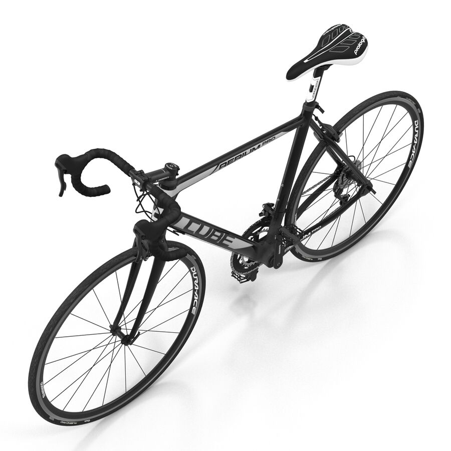 Road Bike Cube royalty-free 3d model - Preview no. 14