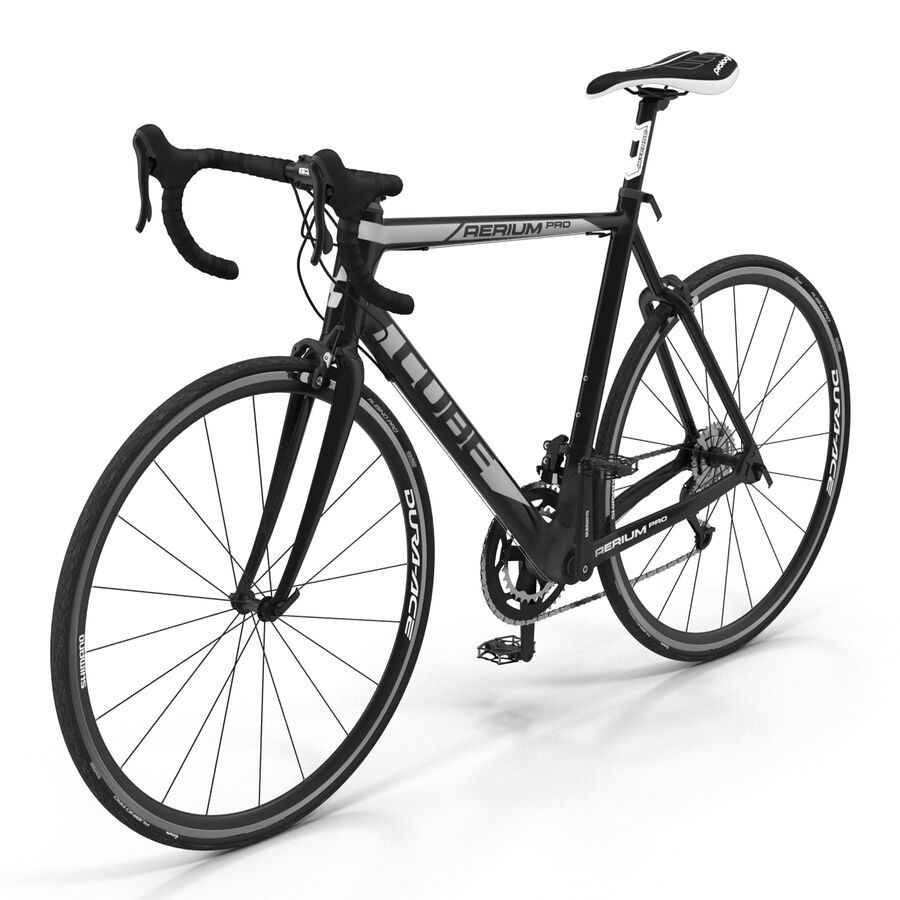 Road Bike Cube royalty-free 3d model - Preview no. 7