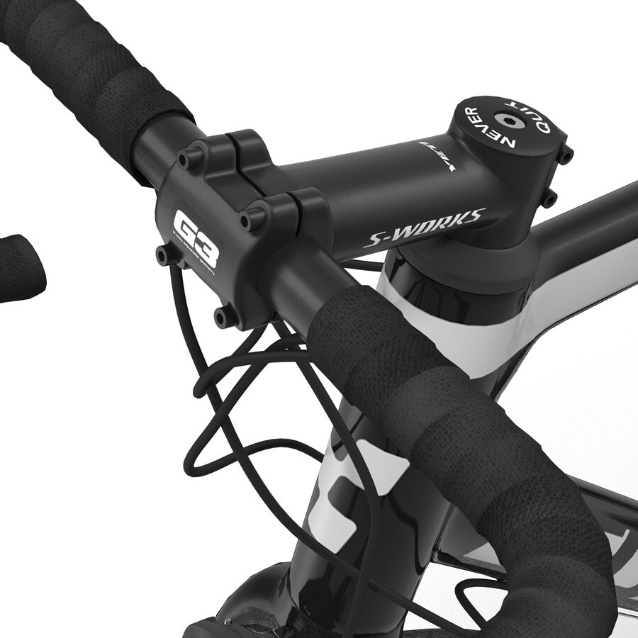 Road Bike Cube royalty-free 3d model - Preview no. 30