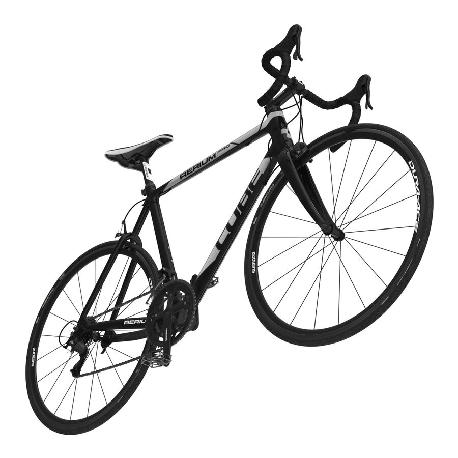Road Bike Cube royalty-free 3d model - Preview no. 16