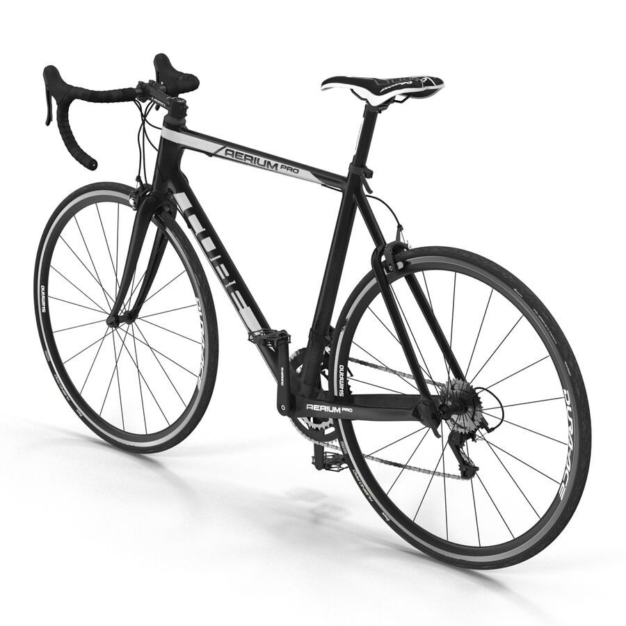 Road Bike Cube royalty-free 3d model - Preview no. 8