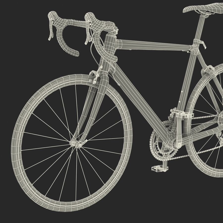 Road Bike Cube royalty-free 3d model - Preview no. 43