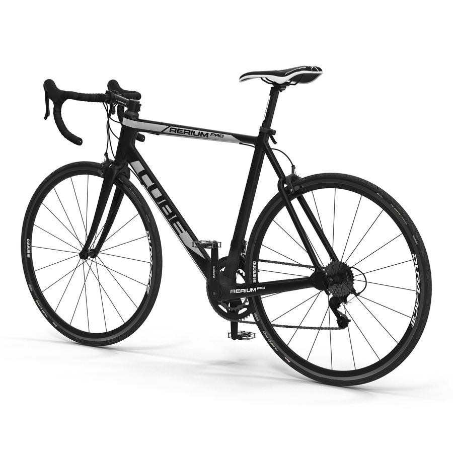 Road Bike Cube royalty-free 3d model - Preview no. 2