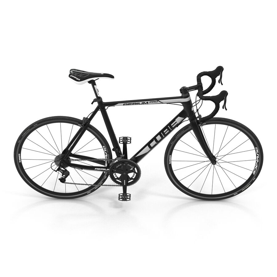 Road Bike Cube royalty-free 3d model - Preview no. 10