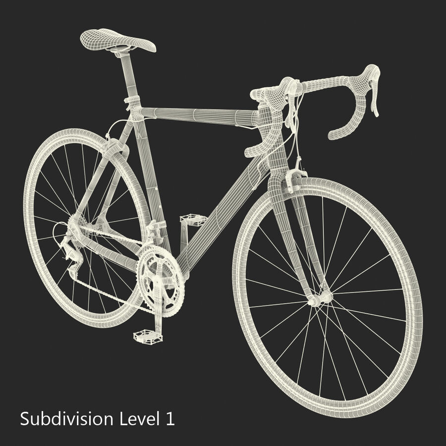 Road Bike Cube royalty-free 3d model - Preview no. 32