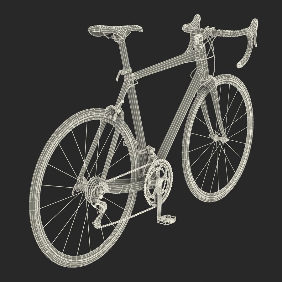 Road Bike Cube royalty-free 3d model - Preview no. 42