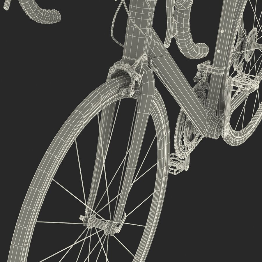 Road Bike Cube royalty-free 3d model - Preview no. 47