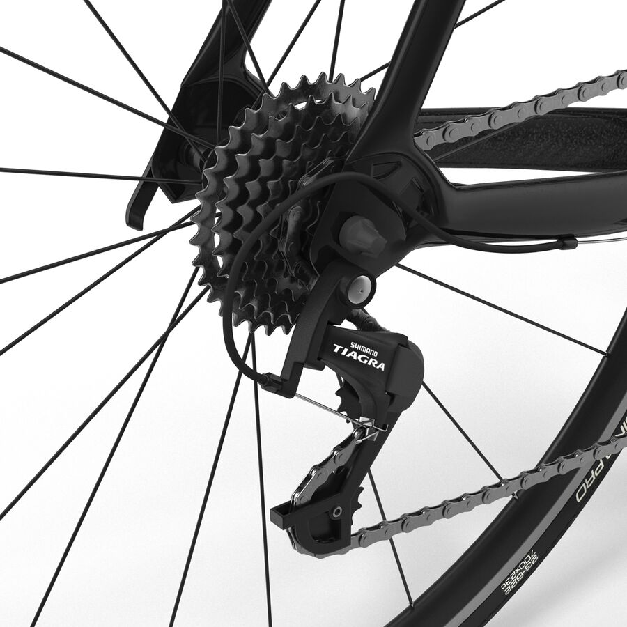 Road Bike Cube royalty-free 3d model - Preview no. 29