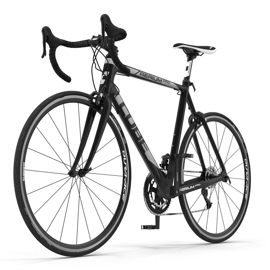 Road Bike Cube royalty-free 3d model - Preview no. 4