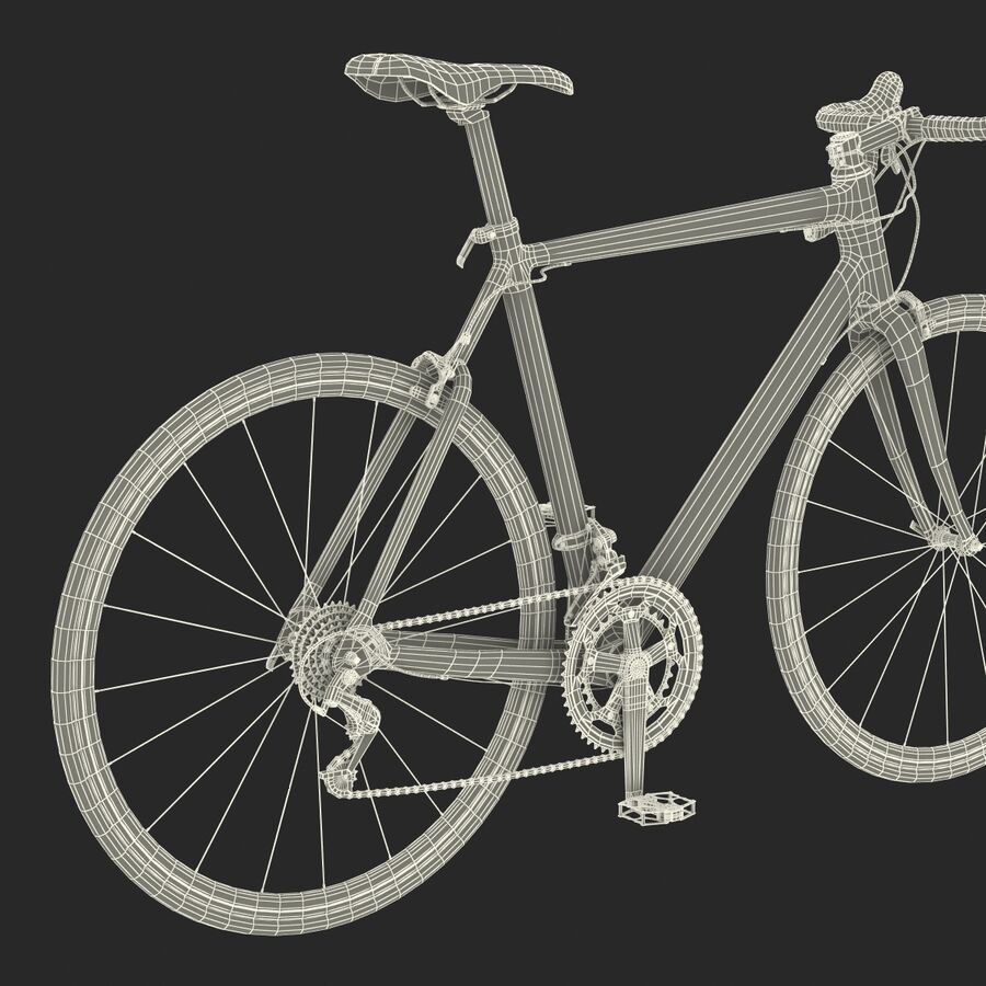 Road Bike Cube royalty-free 3d model - Preview no. 44