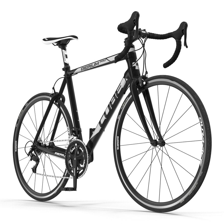 Road Bike Cube royalty-free 3d model - Preview no. 3