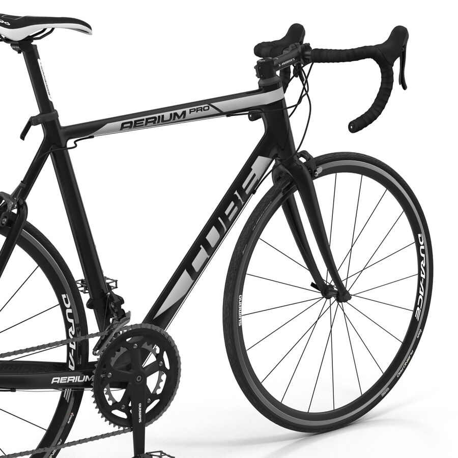 Road Bike Cube royalty-free 3d model - Preview no. 21