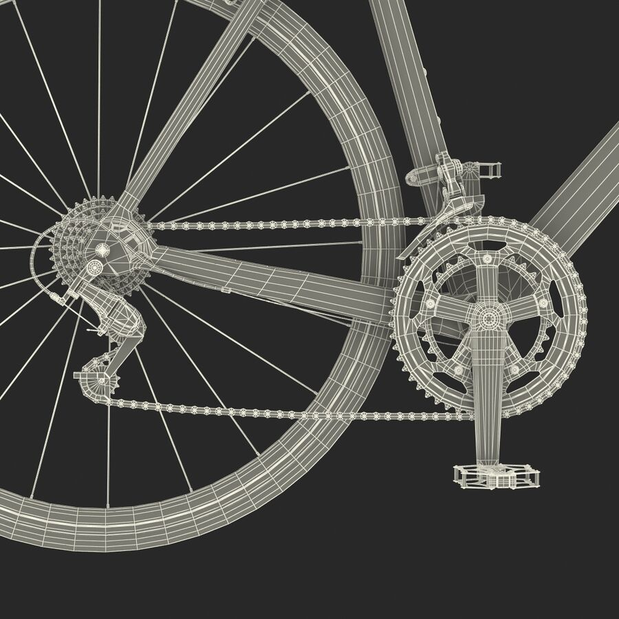 Road Bike Cube royalty-free 3d model - Preview no. 46