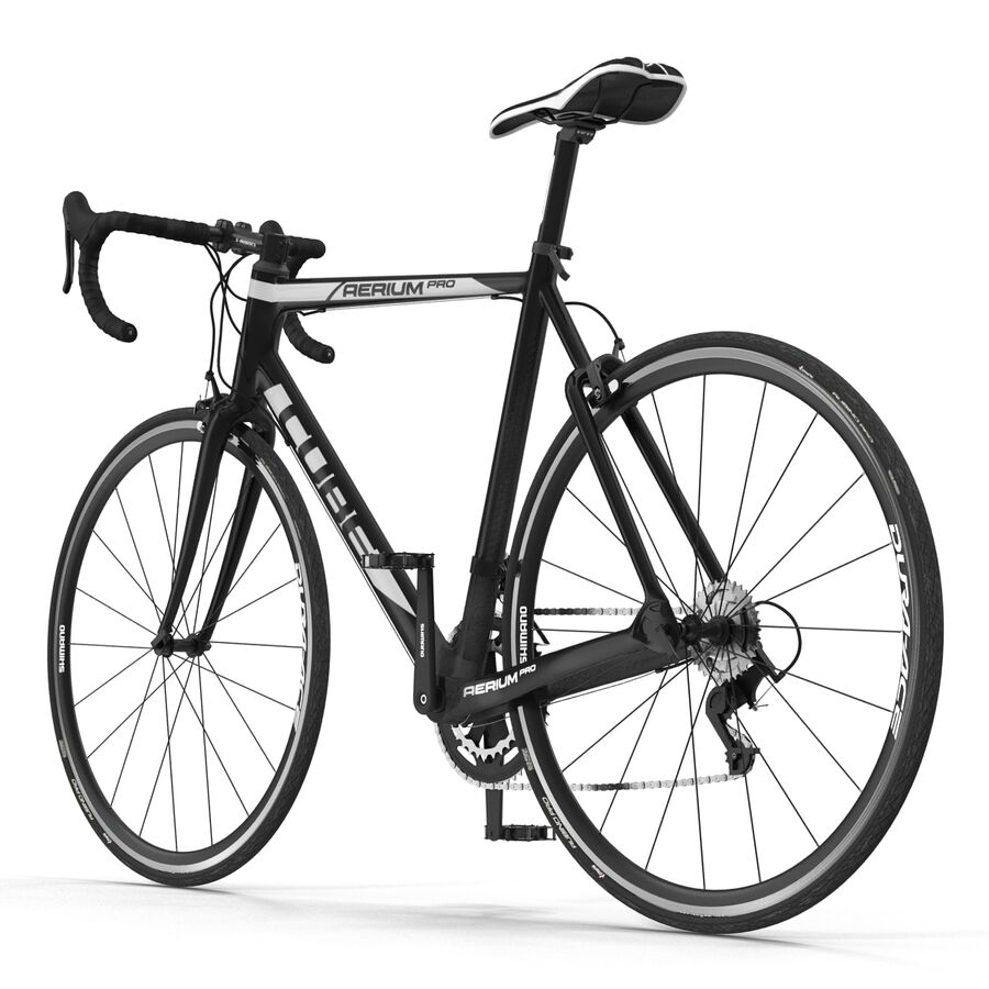 Road Bike Cube royalty-free 3d model - Preview no. 5