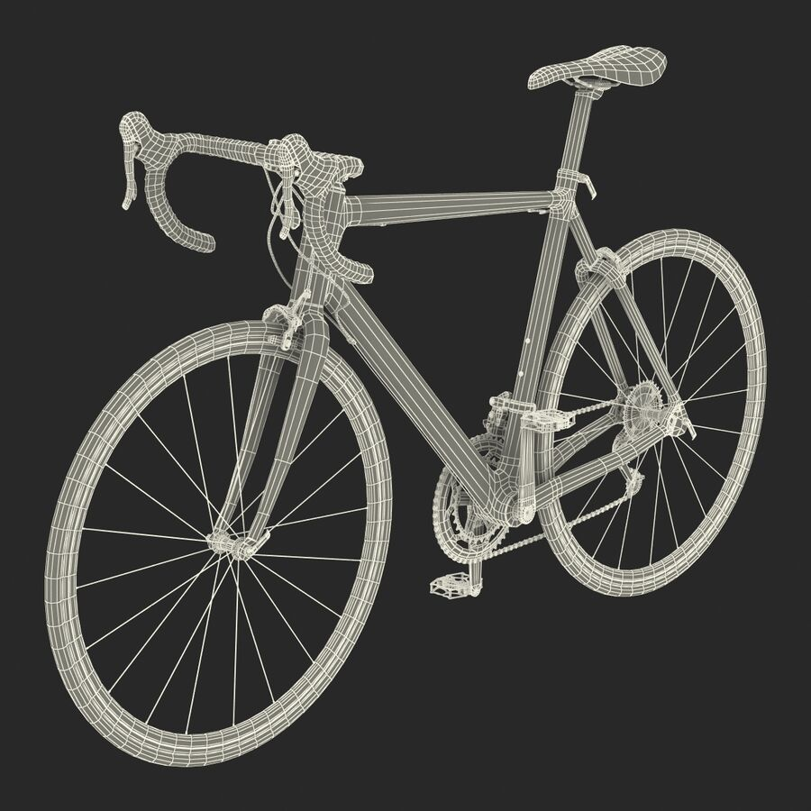 Road Bike Cube royalty-free 3d model - Preview no. 41
