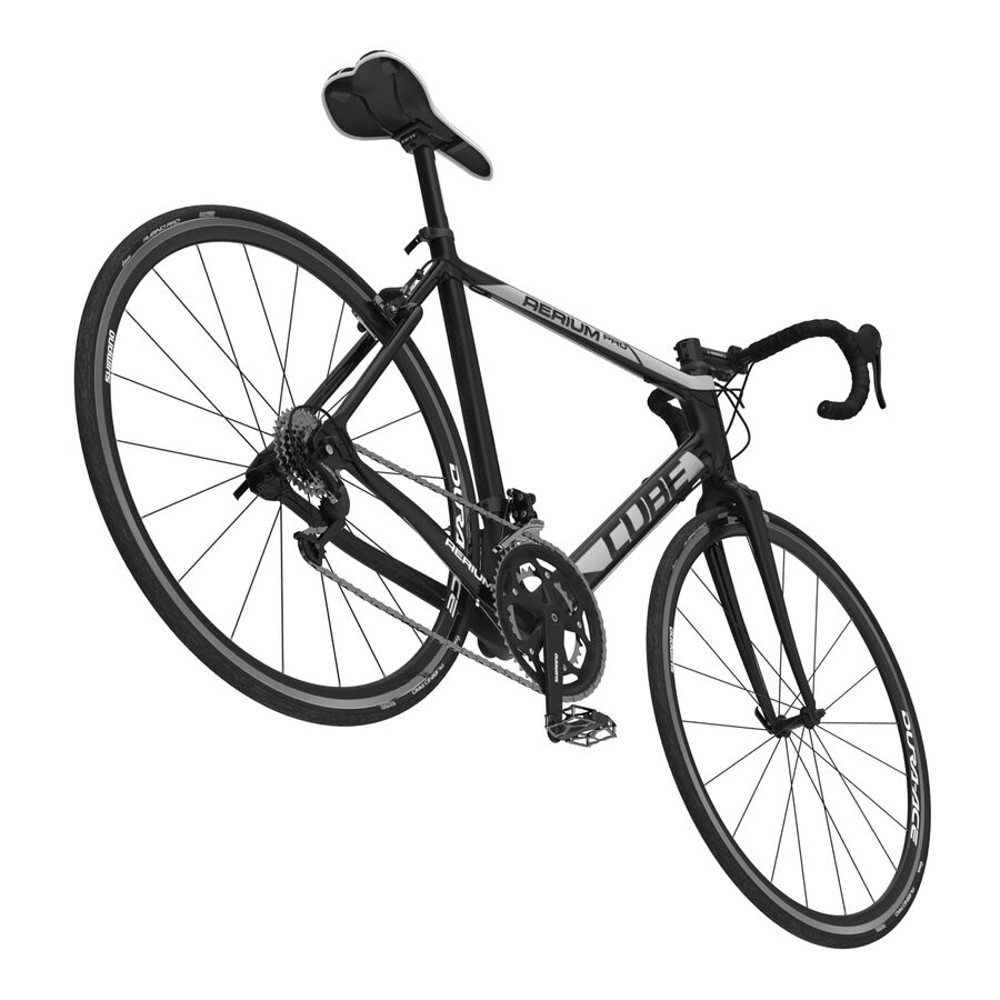 Road Bike Cube royalty-free 3d model - Preview no. 17