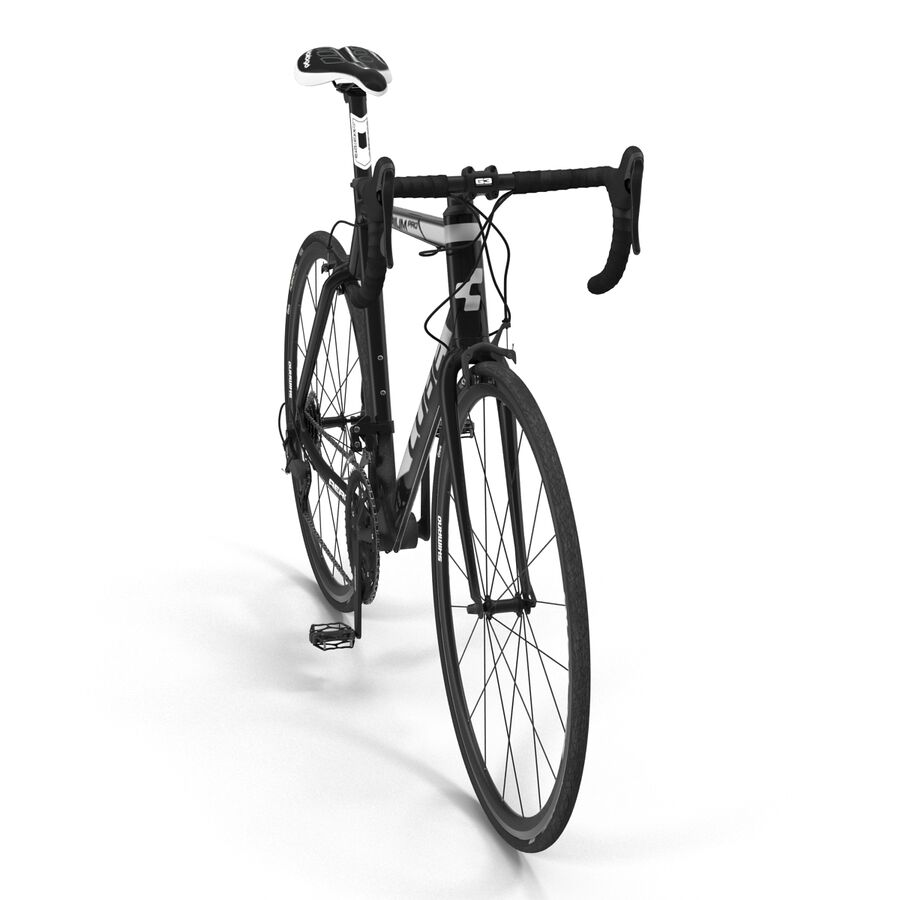 Road Bike Cube royalty-free 3d model - Preview no. 11