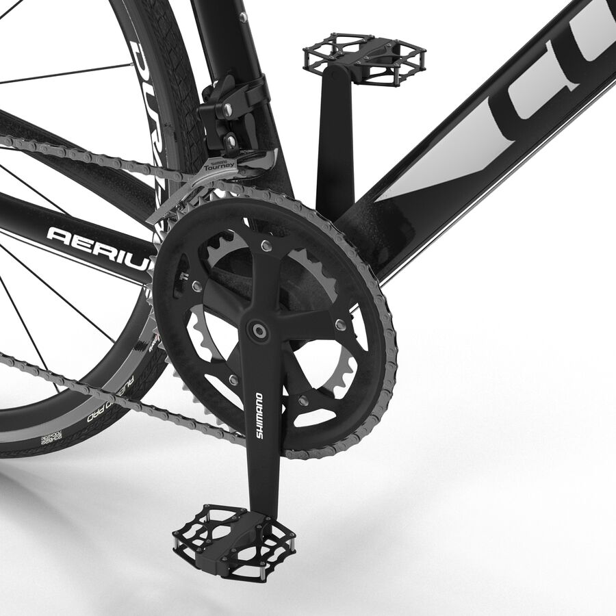 Road Bike Cube royalty-free 3d model - Preview no. 27