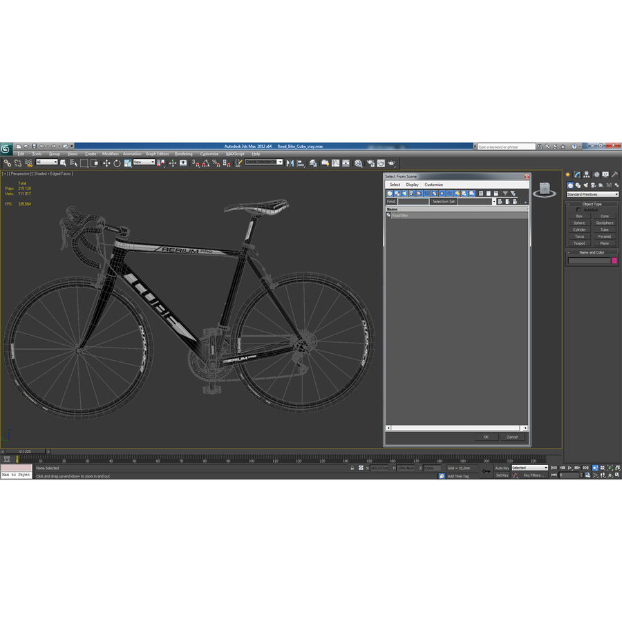 Road Bike Cube royalty-free 3d model - Preview no. 40