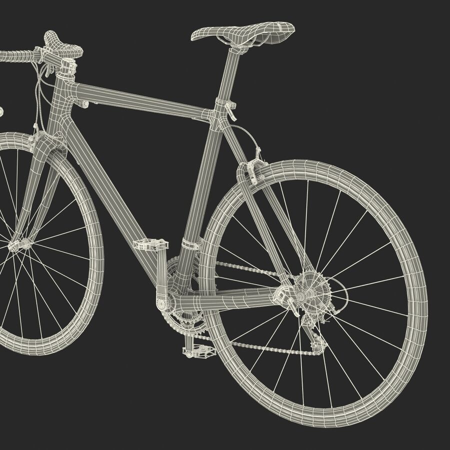Road Bike Cube royalty-free 3d model - Preview no. 45