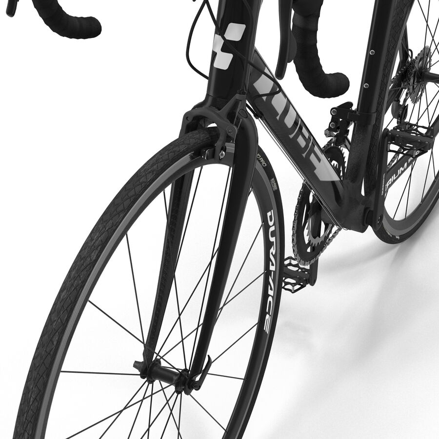 Road Bike Cube royalty-free 3d model - Preview no. 23