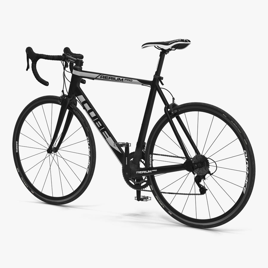 Road Bike Cube royalty-free 3d model - Preview no. 1