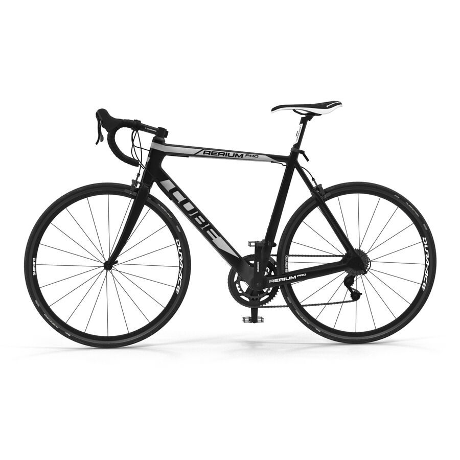 Road Bike Cube royalty-free 3d model - Preview no. 9