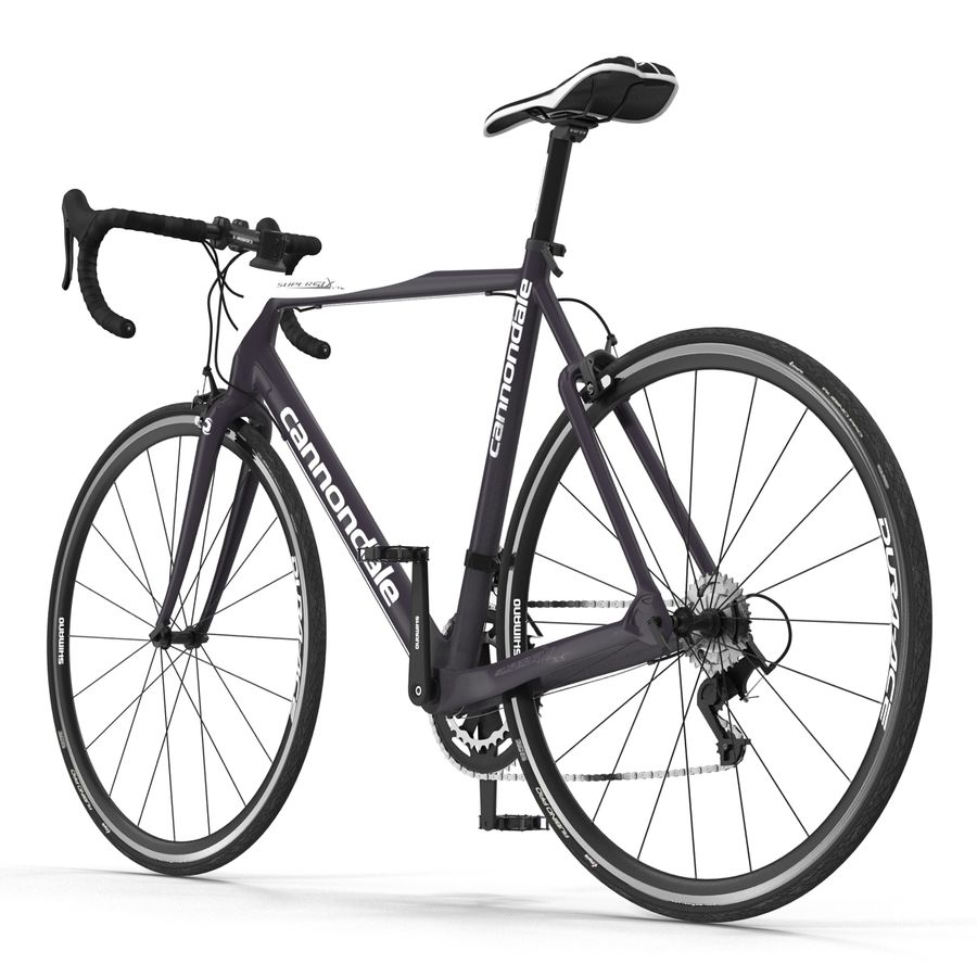 Road Bike Cannondale royalty-free 3d model - Preview no. 5